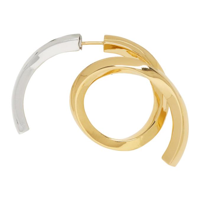 Acne Studios Gold & Silver Single Alana Earring