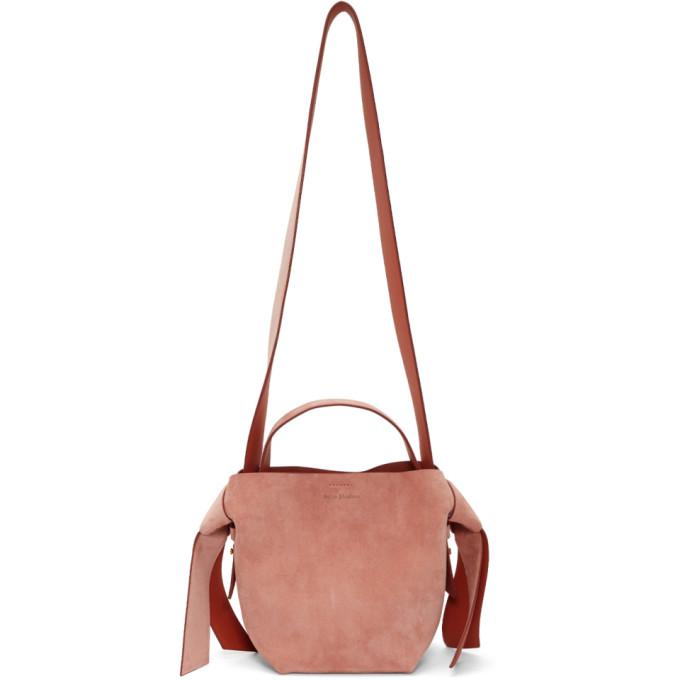Acne Studios Pink Suede Mini Musubi Bag