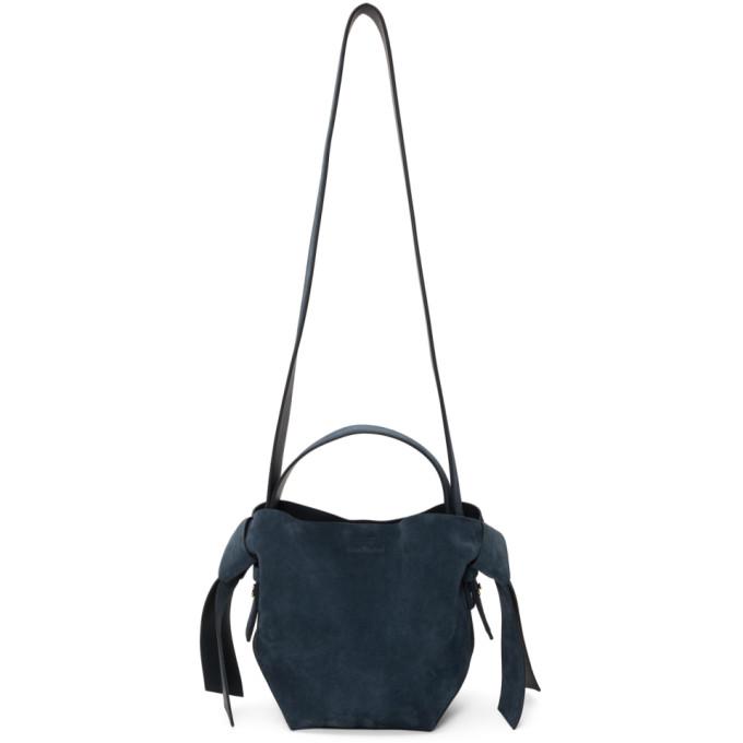 Acne Studios Navy Suede Mini Musubi Bag