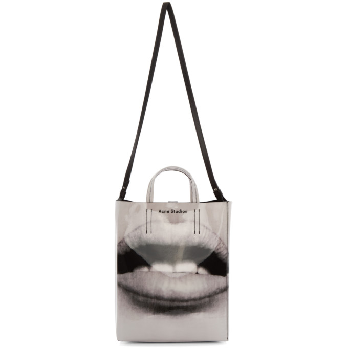 Acne Studios Black and White Baker AP Tote