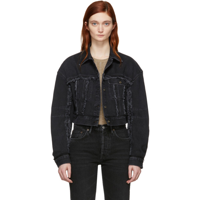 Acne Studios Black Denim Oriana Jacket