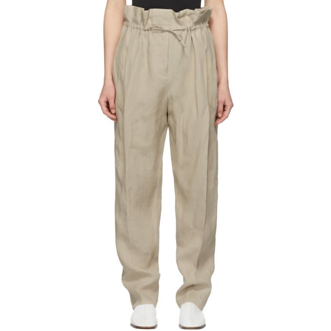 Acne Studios Beige Linen Paoli Trousers