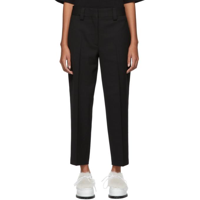 Acne Studios Black Piqué Trousers