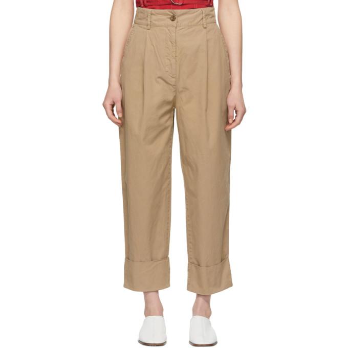 Acne Studios Beige Phaedra Chino Trousers