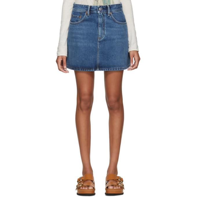 Acne Studios Blue Blå Konst Denim Caitlyn Miniskirt