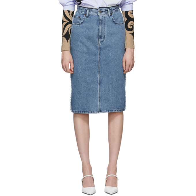 Acne Studios Blue Ilyssia Skirt