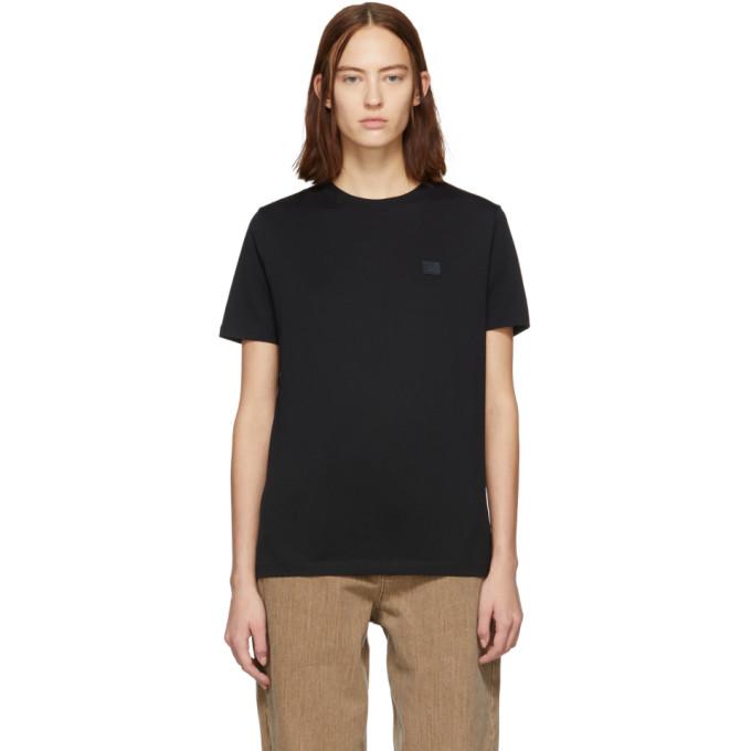 Acne Studios Black Ellison Face T Shirt