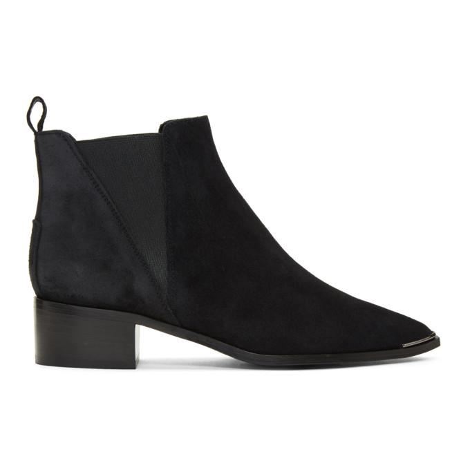Acne Studios Black Suede Jensen Chelsea Boots