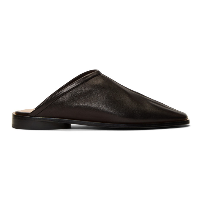 Acne Studios Black Leather Beryl Slippers