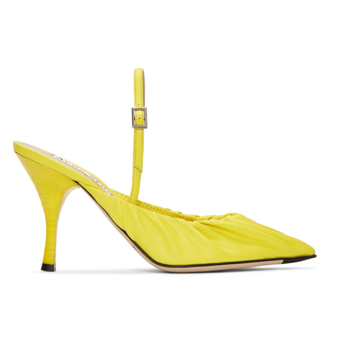 Acne Studios Yellow Leather Beatrice Slingback Heels