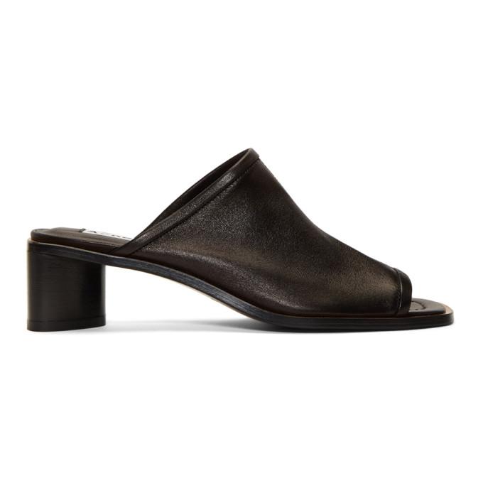 Acne Studios Black Bernelle Heel Sandals