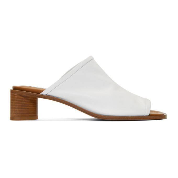 Acne Studios White Bernelle Sandals