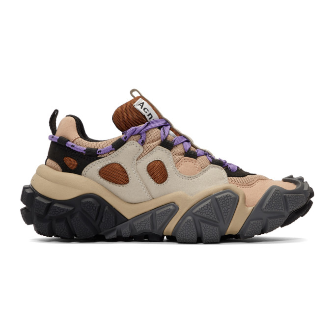 Acne Studios Beige and Grey Bolzter W Sneakers