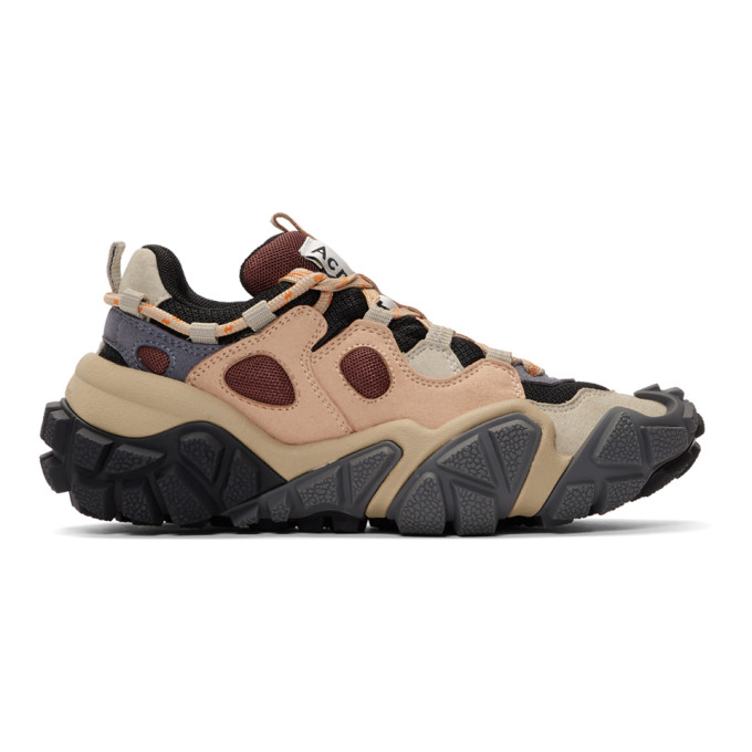 Acne Studios Grey and Pink Bolzter W Sneakers