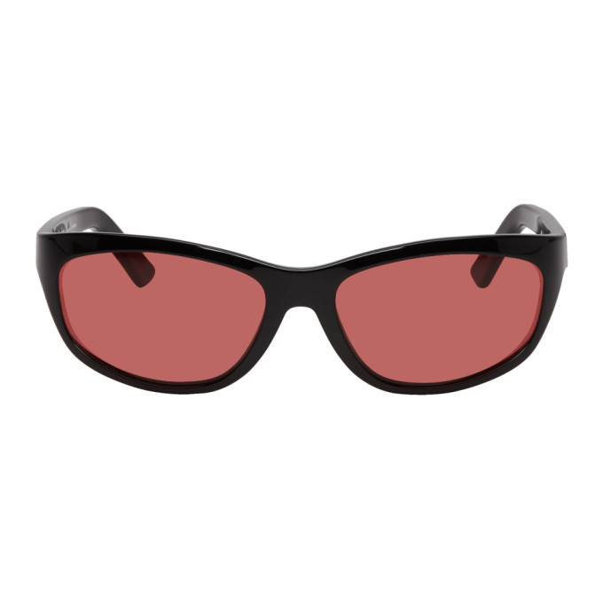 Acne Studios Black and Red Lou Sunglasses