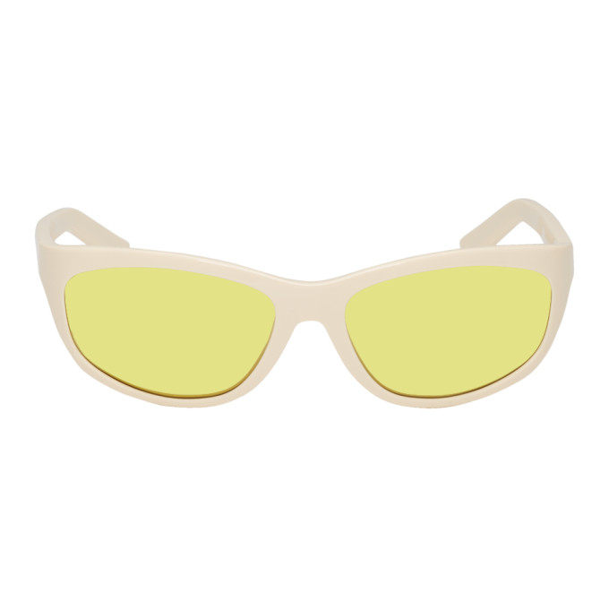 Acne Studios Off White and Yellow Lou Sunglasses