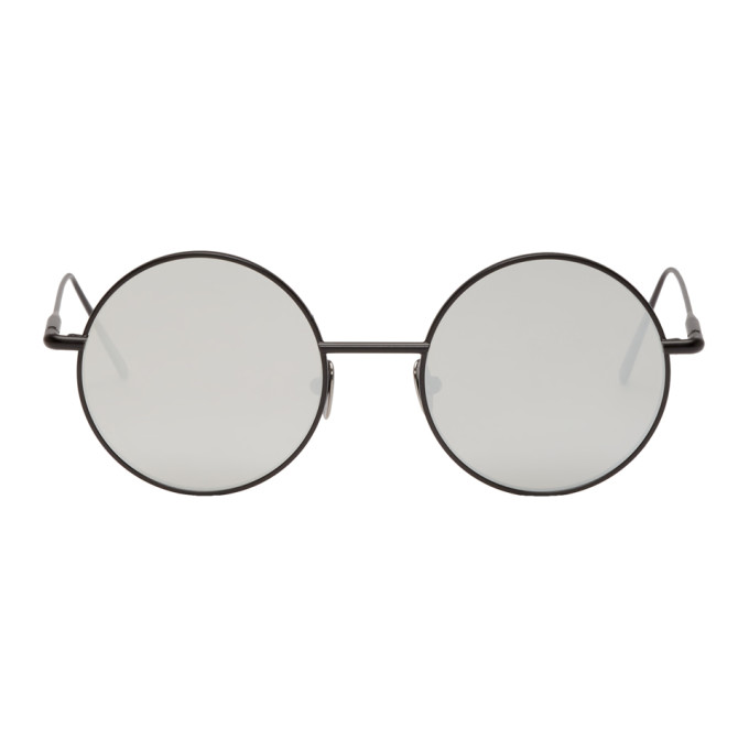 Acne Studios Black and Silver Scientist Sunglasses