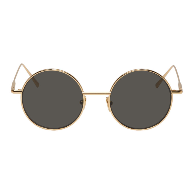 Acne Studios Gold and Black Scientist Sunglasses