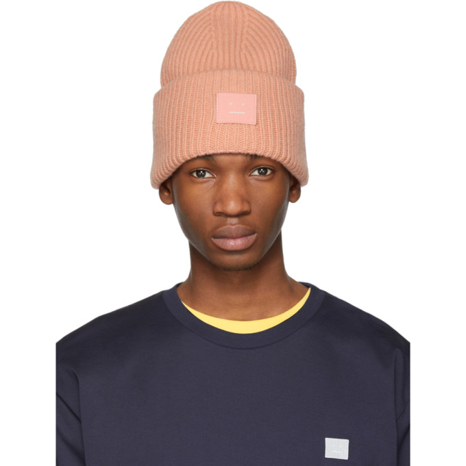 Acne Studios Bonnet rose Pansy N Face