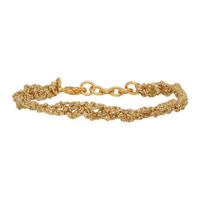 Acne Studios Gold Angel Bracelet