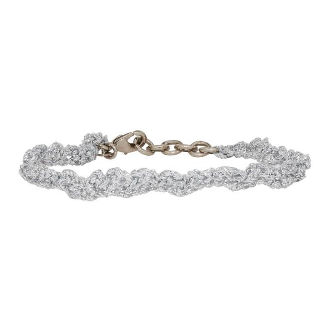 Acne Studios Silver Angel Bracelet