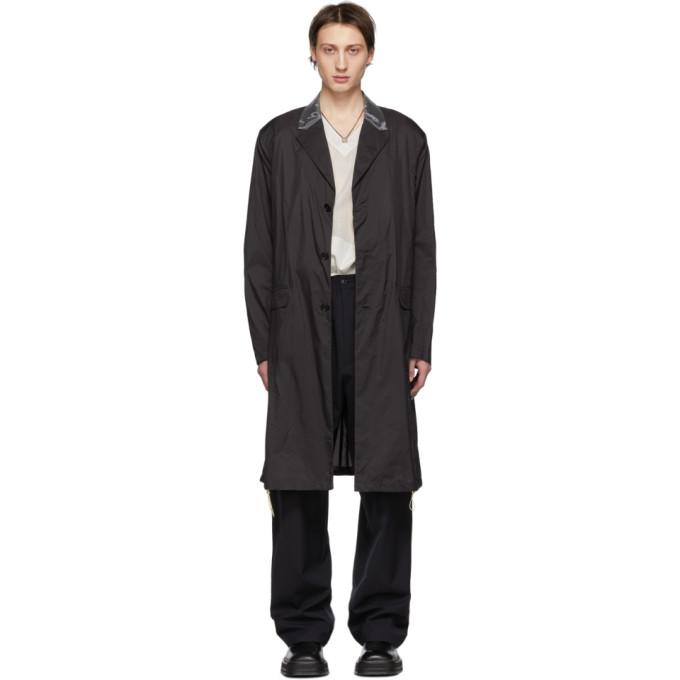Acne Studios Black Ripstop Sagan Coat