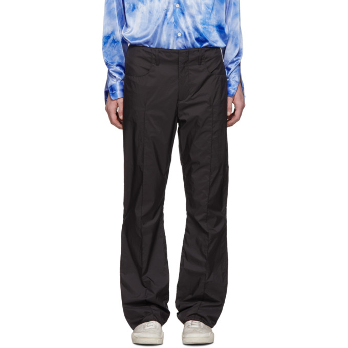 Acne Studios Black Nylon Ripstop Page Trousers