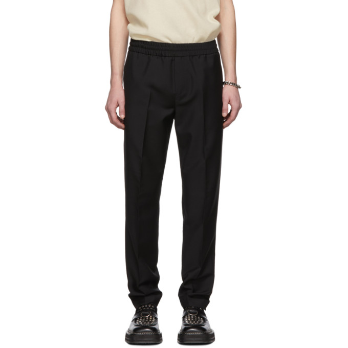 7a6be3ff15cf Acne Studios Ryder Slim-Fit Tapered Wool And Mohair-Blend Drawstring  Trousers In Black