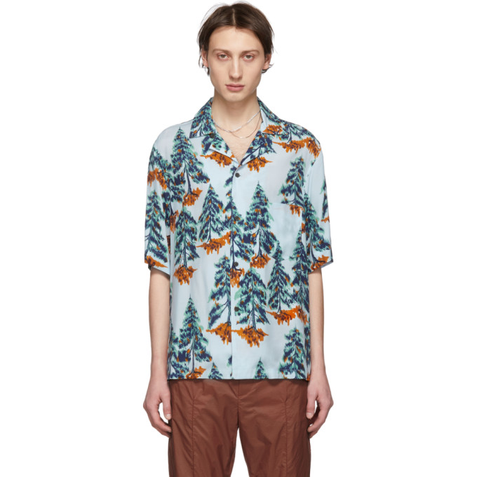 Acne Studios Blue Orange Simon Pine Shirt