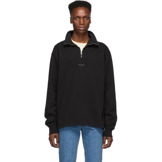 Acne Studios Black Faraz Zip Up Sweater