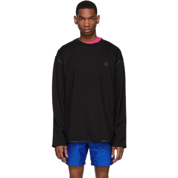 Acne Studios Black Ferke Face Sweatshirt