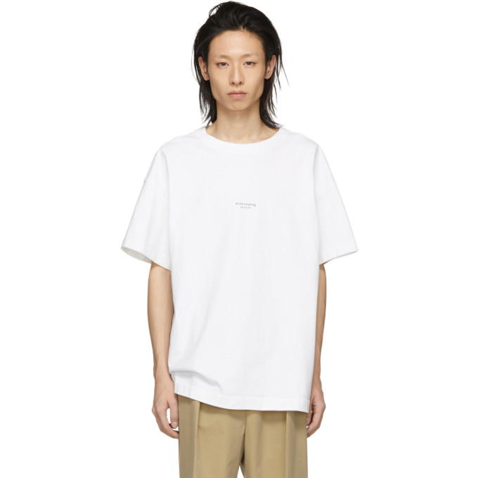 Acne Studios White Logo T-Shirt