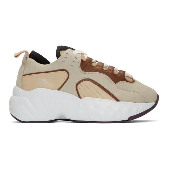 Acne Studios Beige & White Rockaway Sneakers