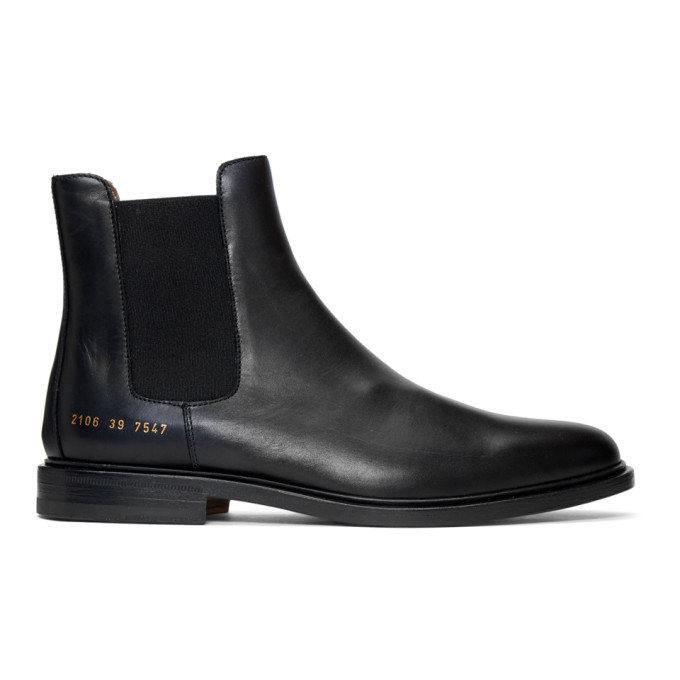 Image of Common Projects Black Chelsea Boots