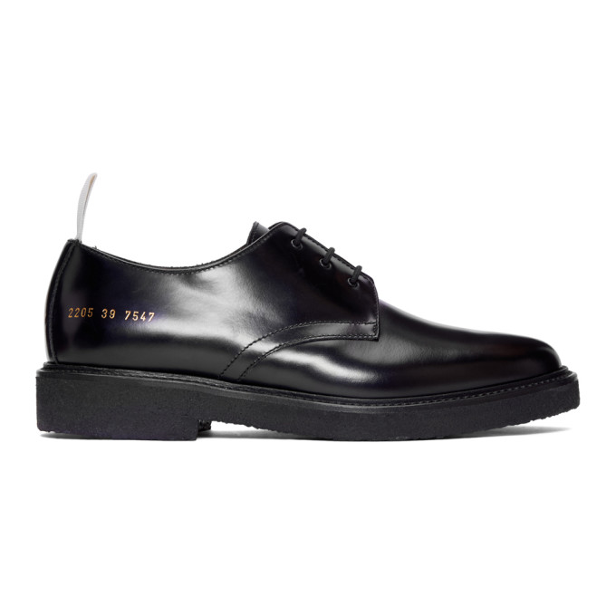 Image of Common Projects Black Cadet Derbys