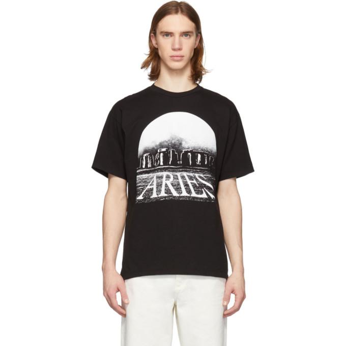 Aries T-shirt noir Moonhenge
