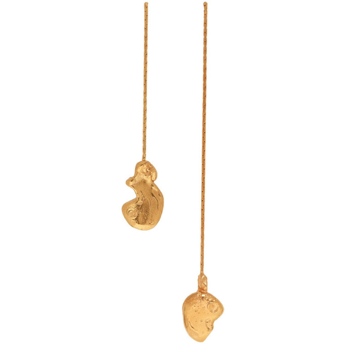 Image of Alighieri Gold 'The Fragmented Escapade' Earrings