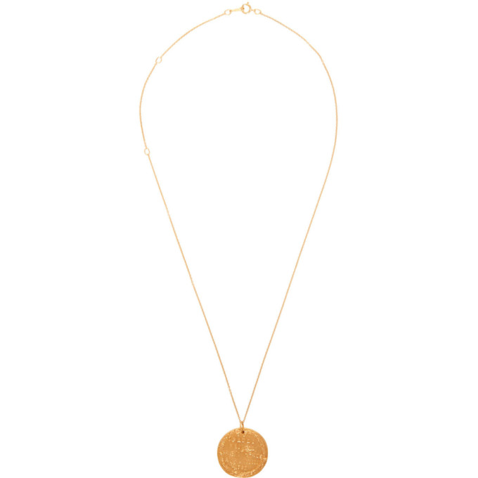 Alighieri Gold Il Leone Coin Necklace