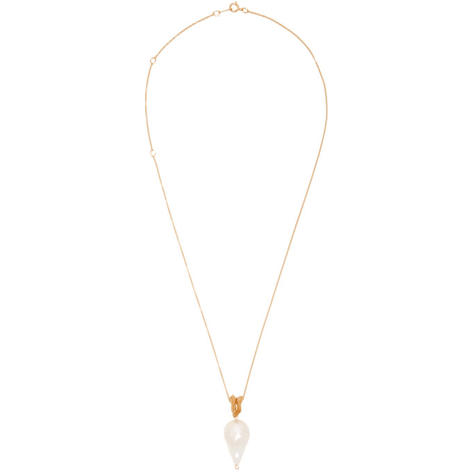 Alighieri Gold Pearl The Remedy Chapter I Necklace
