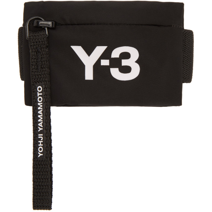 Y-3 Y-3 BLACK MINI WRIST COIN POUCH