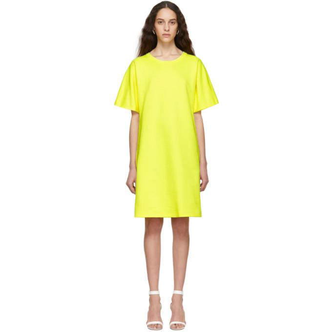 A-Plan-Application Robe t-shirt jaune