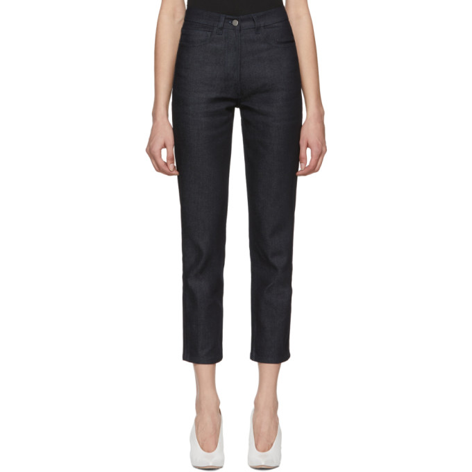 A Plan Application Indigo Straight Cropped Jeans