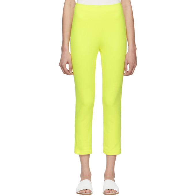 A-Plan-Application Pantalon de survetement jaune Cigarette