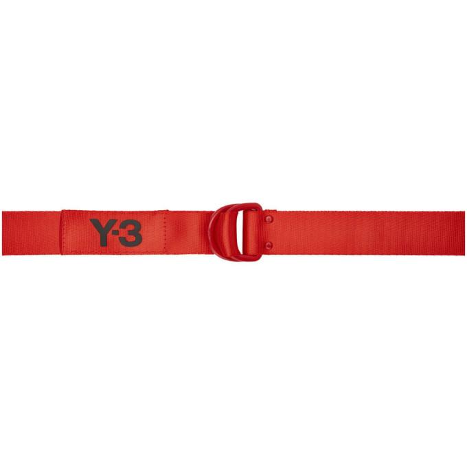 Y-3 レッド ロゴ ベルト