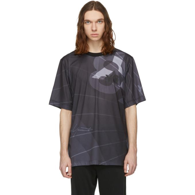 Y-3 T-shirt noir AOP Football