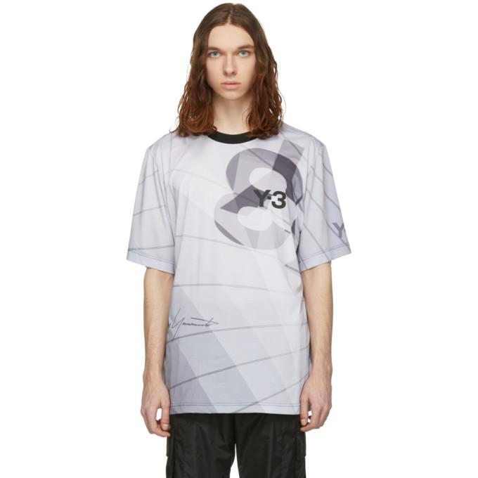 Y-3 T-shirt blanc AOP Football