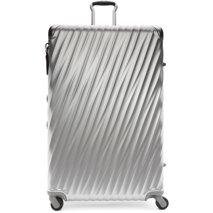 Tumi Silver Aluminium Worldwide Trip Packing Suitcase
