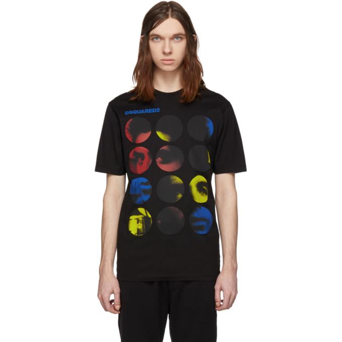 Dsquared2 ブラック サークル グラフィック T シャツ