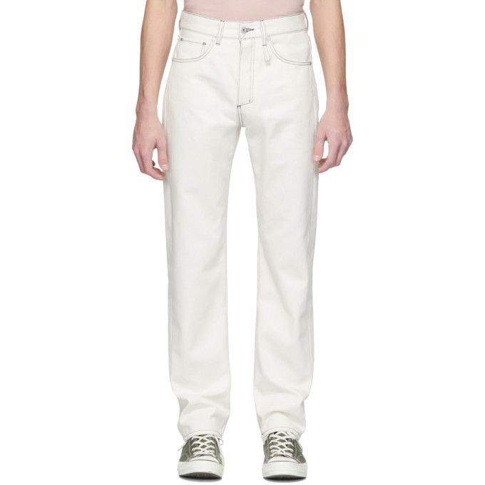 Band of Outsiders Jean blanc Raw Denim Regular Fit