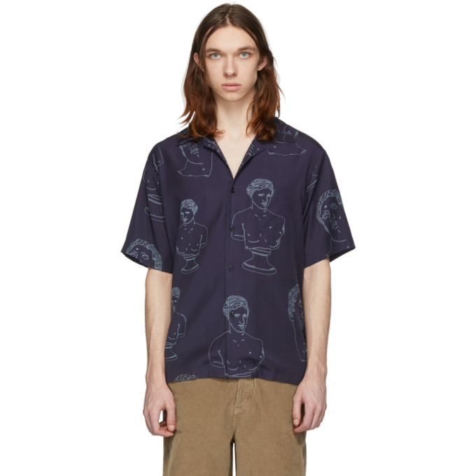 Band of Outsiders Chemise bleu marine Summer